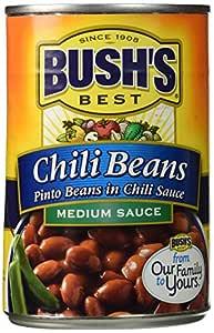 Amazon.com : Bush's Chili Beans 16oz (Pack of 6) (Pinto ...