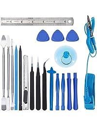 Zacro - Kit de herramientas de apertura 21 en 1 con puños y correa de muñeca antiestática, kit de herramientas de reparación profesional para teléfono móvil