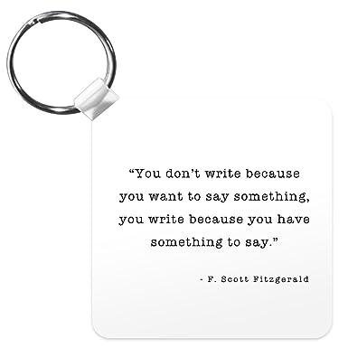 Amazon.com: Escritores en escritura F Scott Fitzgerald algo ...