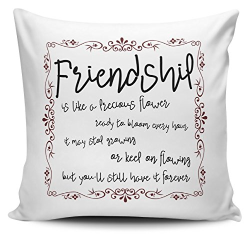 CarterIsaac Friendship Is Like A Flower Ready To Bloom Every Hour Novelty Gift Cushion Pillow