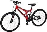 Mercurio ZTX R26 - Bicicleta para Hombre, Doble Suspensión, Rojo