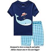 Little Boys 3 Piece Short Pajamas 100% Cotton Toddler PJS Summer Kids Clothes Shirts 2t