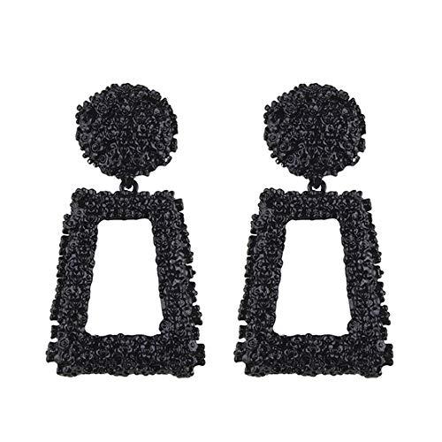 Golden/Silver Raised Design Statement Earrings ()