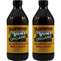Plantation Blackstrap Molasses, Organic, 15 oz (Pack of 2)