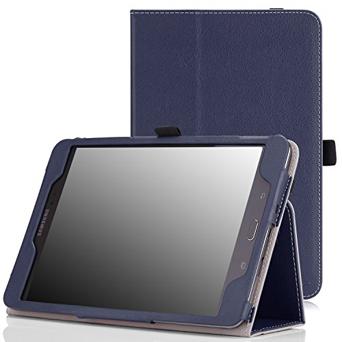 Tab A 8.0 2015 Case - Slim Folding Cover Case With Auto Wake / Sleep and Stylus Pen Loop for Galaxy Tab A 8.0 Tablet SM-T350 2015 Release (NOT FITS 2017 Tab A 8.0), INDIGO ()