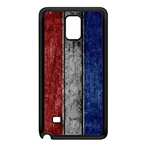Grunge Wood Flag of Luxembourg - Letzebuerger Fandel - Flagge Luxemburgs Black Silicon Rubber Case for Galaxy Note 4 by UltraFlags + FREE Crystal Clear Screen Protector