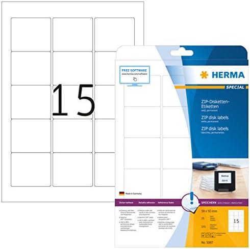 HERMA 4355 Disketten-Etiketten A4 70x67,7 mm weiß Papier matt 200 St.