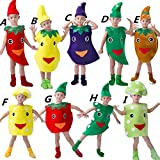 Halloween Kids Vegetables Cosplay Costume Dress Up Suit Children Xmas Role Play