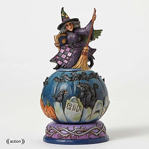 Jim Shore Heartwood Creek Graveyard Witch Figurine (Jim Shore Witch)