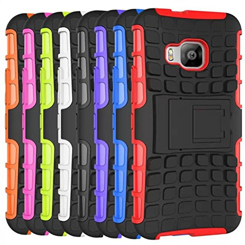 [For HTC ONE M9 ]Rugged Holster Heavy Duty Armor Shield 2-in-1 Hybrid Dual Layer Kickstand Case Cover Skin by Arcraft(TM)