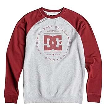 DC Men's Rebuilt Raglan Crew Sweatshirt, Syrah, XX-Large
