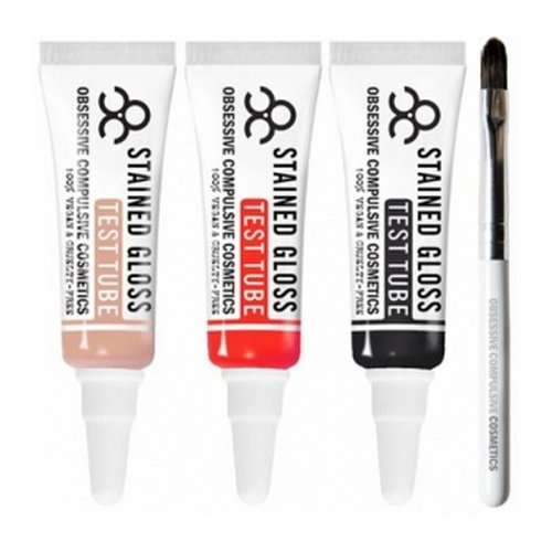 (6 Pack) OBSESSIVE COMPULSIVE COSMETICS Lip Tar Test Tube Trio : MY BLOODY VALENTINE - My Bloody Valentine by OCC