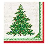 Classic Christmas Tree Beverage Napkins, 16ct
