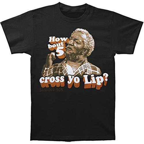 "Sanford and Son ""5 cross yo lip"" T-shirt Black"