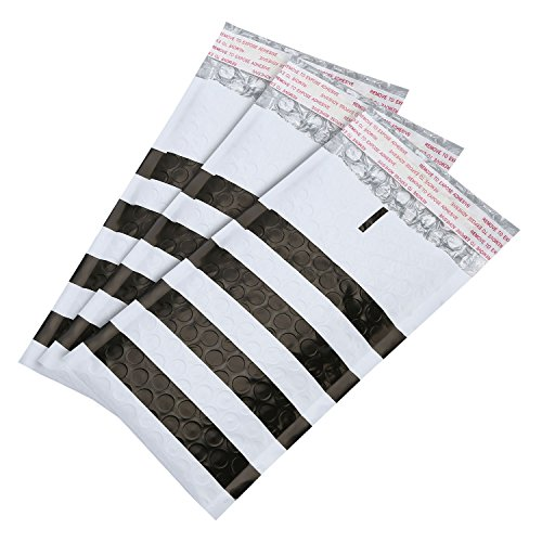 Hot Adaman #000 50pc Bubble Mailers Padded Envelopes, 4x8 inch Black Stripe Self Adhesive Waterproof Bubble Envelopes for sale