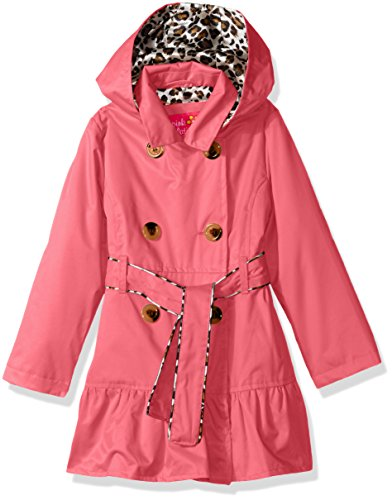 pink platinum trench rain jacket - 3