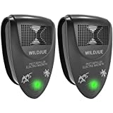 WILDJUE Ultrasonic Pest Repeller Pest Control, Spider Repellent, Electronic Plug in Pest Repeller- Repels Mice,Roaches,Spiders,Other Insects,Non-Toxic Environment-Friendly, Humans & Pets Safe -2 Pack
