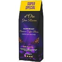 Koffiebonen 1kg, d'Oro Gran Riserva geroosterde bonen, unieke slowroast koffie, robuuste en intense espresso, premium…