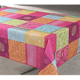TableCloth Provence Nappe Anti Taches 100% Polyester Infroissable Bollywood Format Rectangle 200X150