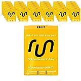 Run Gum Fruit Energy Chewing Gum 50mg Caffeine Taurine & B-Vitamins 64 Pieces (32pk) Best Value For Sale