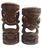 Pair Of Hand Carved Tiki Masks 11'' - Made In Hawaii | #tmmk05
