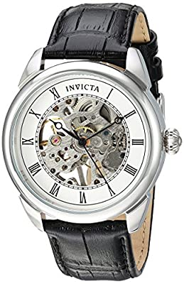 Invicta Men's 'Specialty' Mechanical Hand Wind Stainless Steel and Polyurethane Casual Watch, Color:Black (Model: 23533)