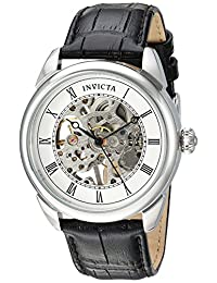 Invicta 23533 Watch Specialty' Mechanical Hand Wind Stainless Steel and Polyurethane Casual, Black