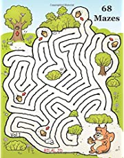 Jumbo Illustrated Mazes Workbook For Kids Ages 8-12: Funny Logical Maze Puzzle Books For Kids Ages 8-12 Years (maZe 4 dayZ)