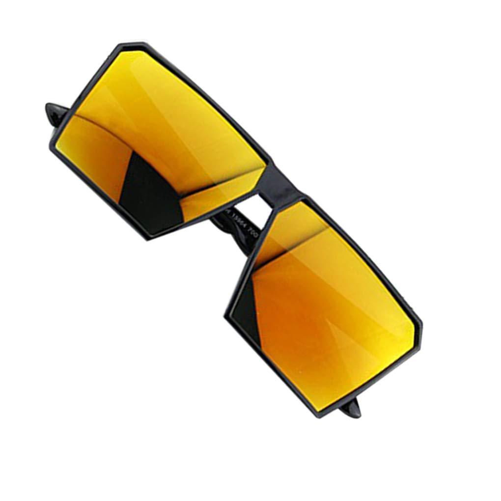 Grande Struttura Retro Occhiali da Sole Retro Piazza Occhiali degli Uomini Maschi Donne Bambine Femmine Eyewear UV400 Streetwear