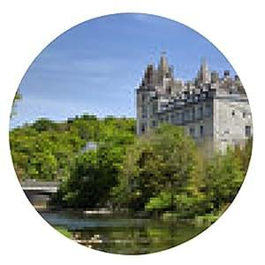 alfombrilla de ratón Castillo Durbuy y el río Ourthe - ronda - 20cm