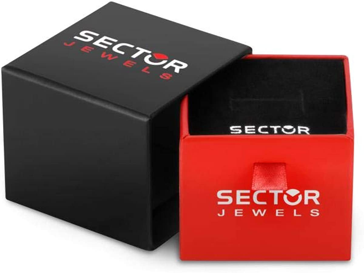 Collection ROW Sector No Limits Bague pour homme en acier taille 63 SACX03023 PVD noir et cristaux