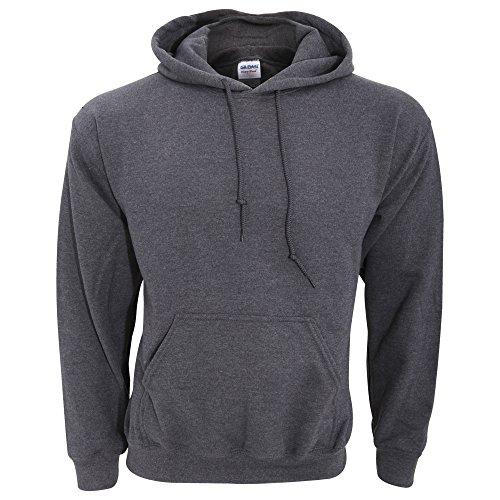 Gildan Heavy Blend Adult Unisex Hooded Sweatshirt/Hoodie (M) (Dark Heather)