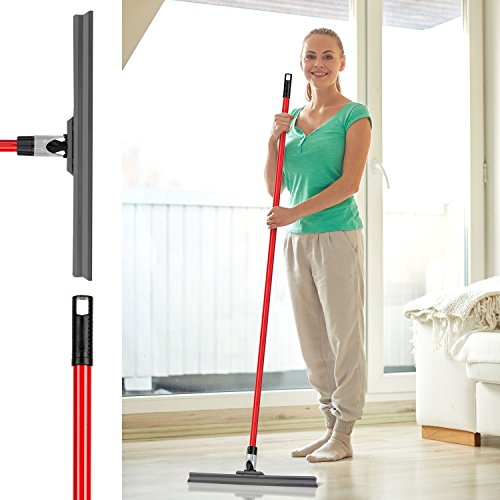 Floor Squeegee By Ravmag- Uber Durable Silicone Blade (17-inch Wide)- Adjustable Knuckle Joint- Perfect for Wood Tile Marble Concrete & Glass - 58-inch Long Handle - Lightweight Design by RAVMAG (Image #4)
