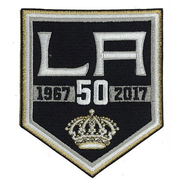 2017 NHL Los Angeles Kings 50th Anniversary Official Hockey Game Jersey Patch by Patch Collection