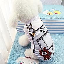 Rurah Cute Fashion Pet T-Shirt Small Dog Cat Vest Clothes Puppy Costumes,Light blue,M