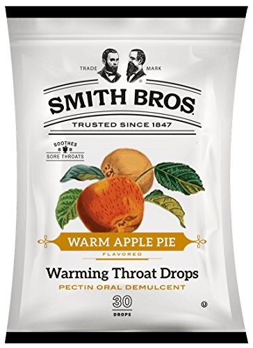 (Smith Brothers Warm Apple Pie Warming Throat Drops, 30 Count Each (2))