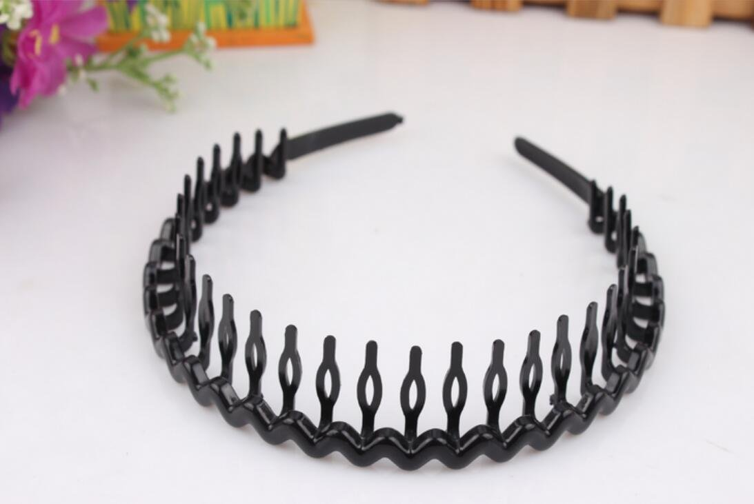 Blabroge Women Plastic Teeth Comb Hairband Hair Hoop (Black)