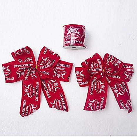 Doitsa 1x Ruban Satin de Couleur Wapiti de No/ël Ruban D/écoratif Tissu DIY Ruban pour Mariage//F/ête et Emballage Cadeau//Faire n/œud Papillon #1 Kaki