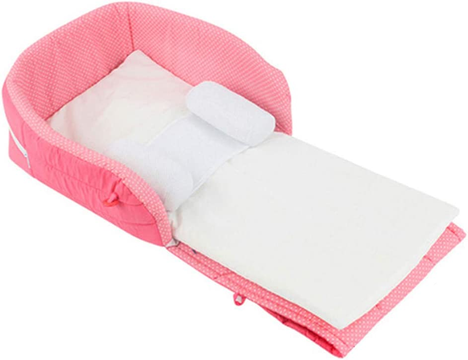 Portable Bassinet Foldable Baby Bed Breathable Baby Lounger Newborn Snuggle Bed Baby Nest Travel Folding Crib Infant Cot As A Diaper Bag Perfect for Co-Sleeping Bedroom//Travel Camping