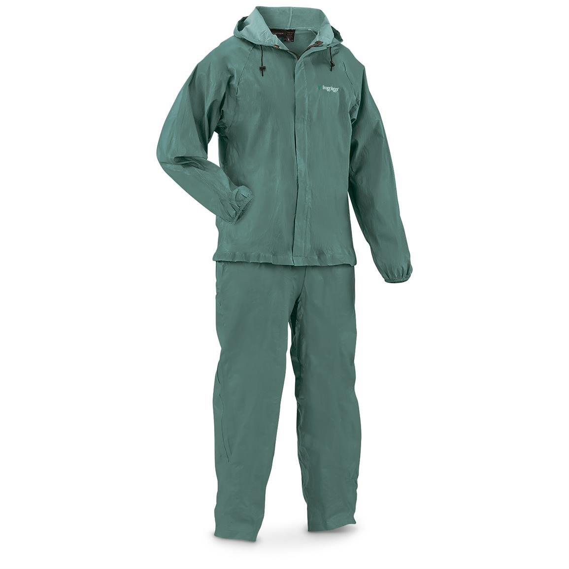 Frogg Toggs Men's Waterproof Ultra-Lite2 Suit, Forest Green, M