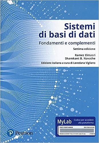 Sistemi di basi di dati - Fondamenti e complementi - Settima edizione