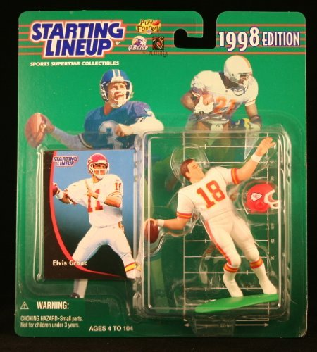 ELVIS GRBAC / KANSAS CITY CHIEFS 1998 NFL Starting Lineup Action Figure & Exclusive NFL Collector Trading Card