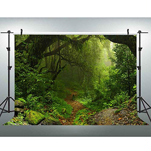 VVM 7x5ft Forest Path Backdrop Natural Scenery YouTube Background Jungle Theme Baby Shower Decor Birthday Party Photo Shoot Props MVV142