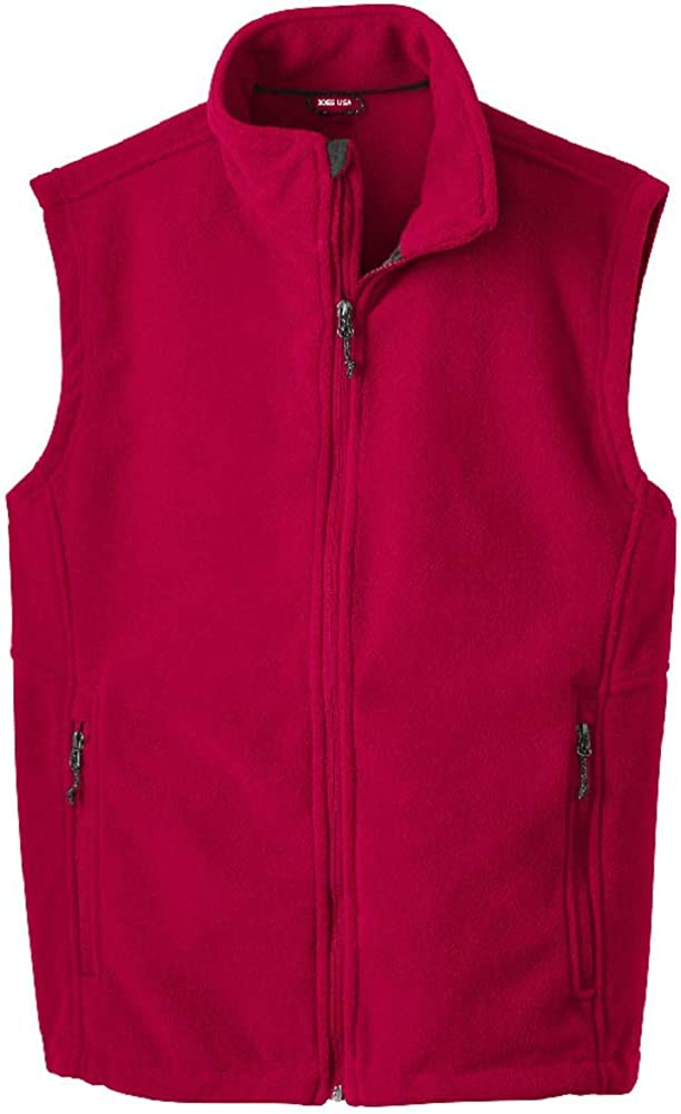 Men's Soft and Cozy Fleece Vests in 8 Colors: Sizes XS-XL