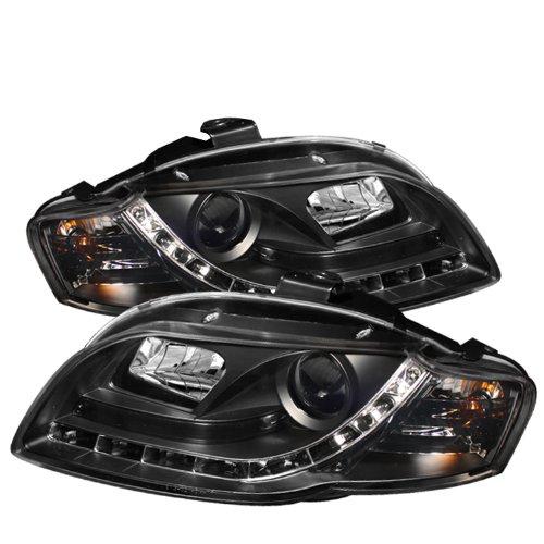 Audi Euro Headlights (Spyder Auto PRO-YD-AA405-DRL-BK Audi A4 Black DRL LED Projector Headlight)