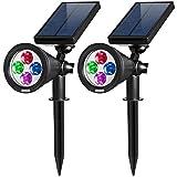AMIR 2 in 1 Solar Spotlights, Upgraded Solar - Best Reviews Guide