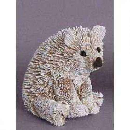 Christmas Tablescape Decor - Frosted brush sitting polar bear ornament by Brushart