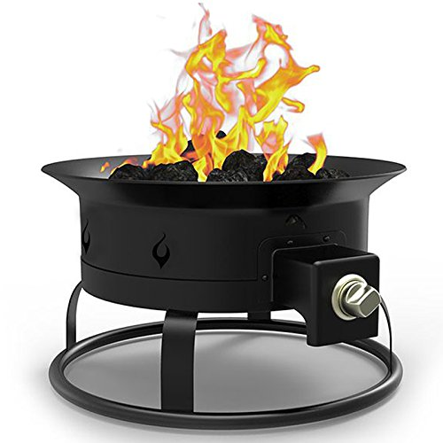 Regal Flame Camp Mate 58,000 BTU Portable Propane Outdoor Fire Pit with Lid and Straps