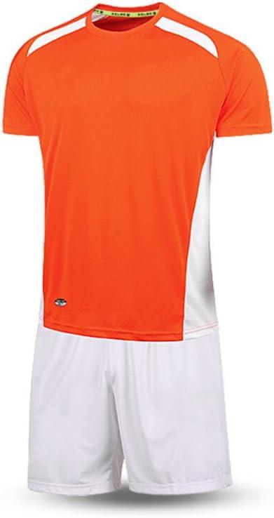 KELME Fútbol Traje Deporte Entrenamiento Equipo Manga Corta Camiseta Ropa para Hombres, Color Naranja y Blanco, tamaño Small: Amazon.es: Deportes y aire libre