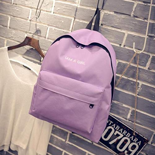 Teenage Daypack Boys Rucksack Bag Backpack Shoulder School Book Girls Purple Vpass Canvas Unisex Fashion 7pq4F